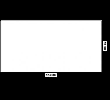 Столешница для рабочего стола классическая 120х60см, белый ДСП 22 мм