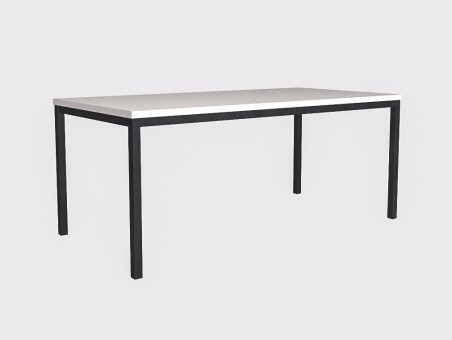 Длинный широкий стол на чёрном металлокаркасе 180х90см