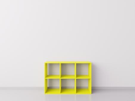 Шкафчик для детских игрушек 3х2, ДСП, жёлтый