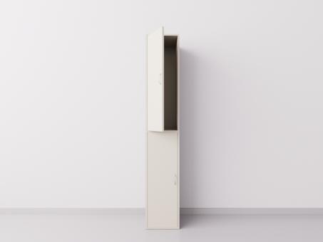 Шкаф для раздевалки из ДСП 1х2 вертикальные секции, бежевый