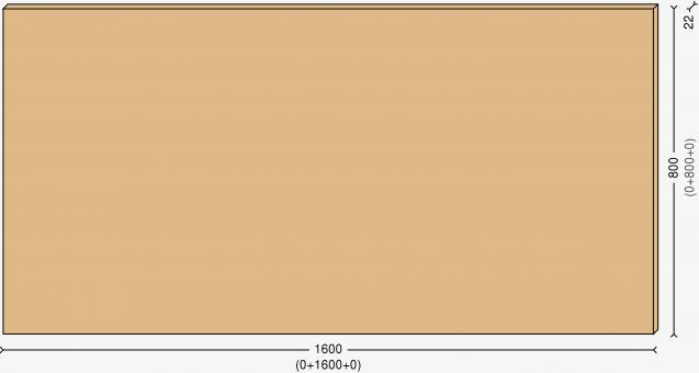 Столешница 160х60см, массив берёзы 22мм + бесцветный лак