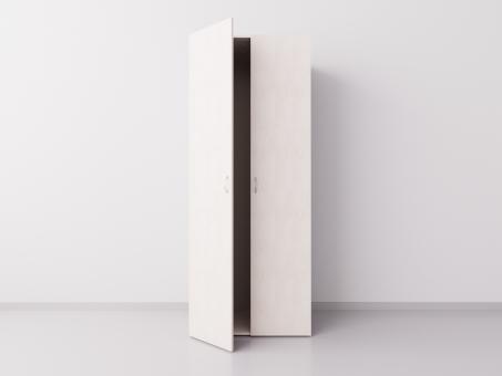 Шкаф для одежды двухстворчатый, ДСП, дуб светлый
