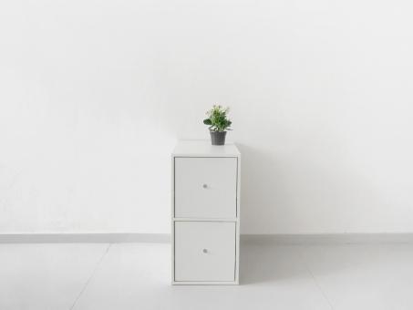 Тумба-опора с двумя выдвижным ящиками для рабочего стола. Белый ДСП