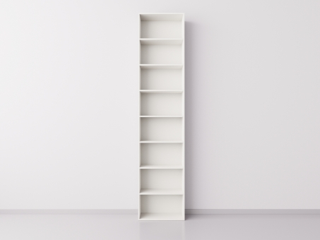 Стеллаж 1x8 прямоугольников, белый