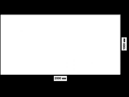 Большая столешница для рабочего стола 200х100см, белый ДСП 22 мм