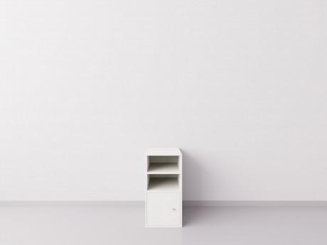 Тумба-опора с дверкой для рабочего стола. Белый ДСП