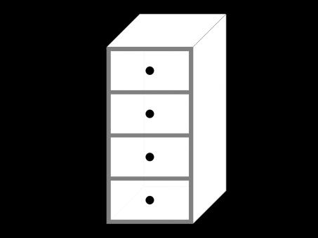 Тумба-опора с ящиками для рабочего стола. Белый ДСП.