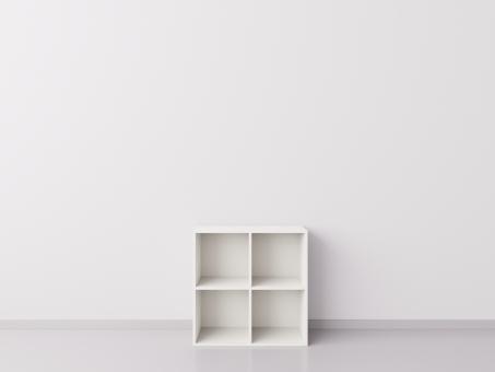 Шкаф 2x2 квадрата, белый