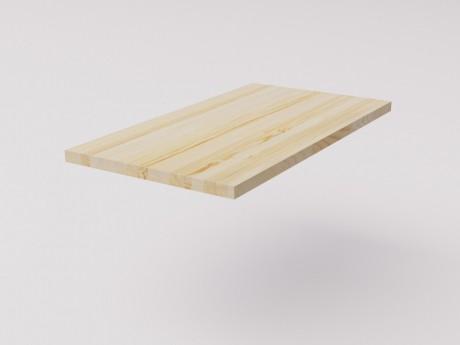 Столешница для рабочего стола классическая 120х65см, натуральная сосна 40мм