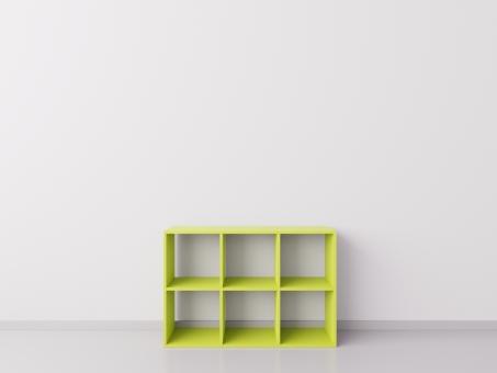 Шкафчик для детских игрушек 3х2, ДСП, лаймовый