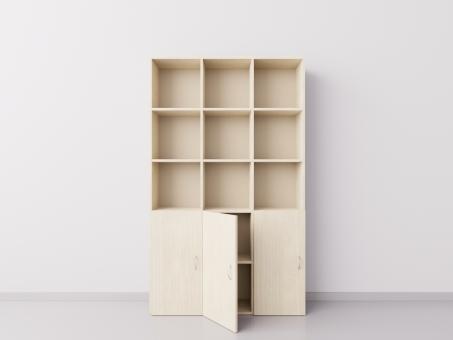Шкаф из ДСП 3х5 квадратов с дверцами , клён